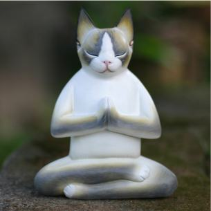 Cat-In-Meditation-Handmade-Kitten-Kitty-Prayer-Zen-Buddhist-White-Gray-Feline-Home-Decor-Desk-Gift-Wood-Statuette-Indonesia-c40dcaa0-b495-4f2d-a0ee-5842470cdf3b